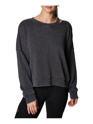 Betsey Johnson Slit and Distressed Pullover