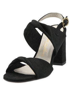 Bettye Muller Angel Suede Twisted Sandals