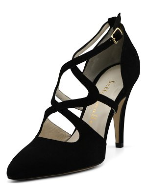 Bettye Muller Gallant Suede High Sandal Pumps