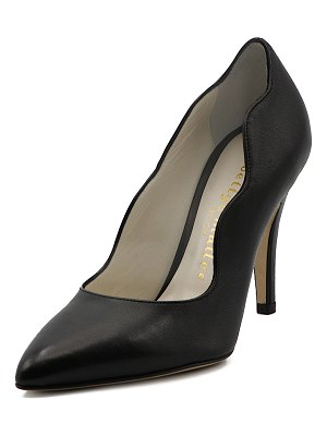 Bettye Muller Gentry Scalloped Leather Pumps