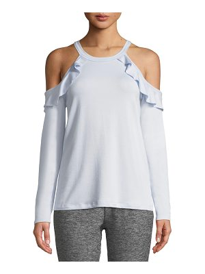 Beyond Yoga Frill Seeker Cold-Shoulder Top