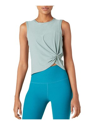 Beyond Yoga Front-Twist Muscle Tank Top