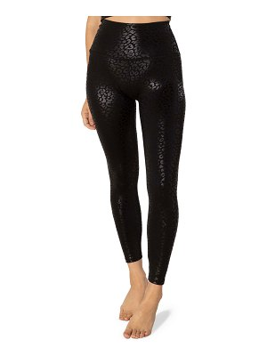 Beyond Yoga High Waisted Midi Leggings - Black Leopard