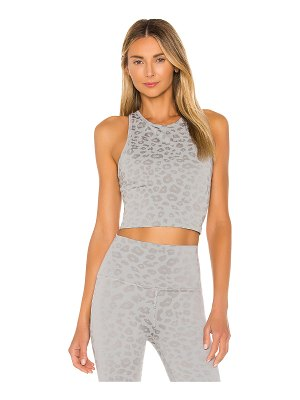 Beyond Yoga leopard studio cropped tank