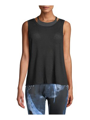 Beyond Yoga Mesh Me Up Scoop-Neck Muscle Tank
