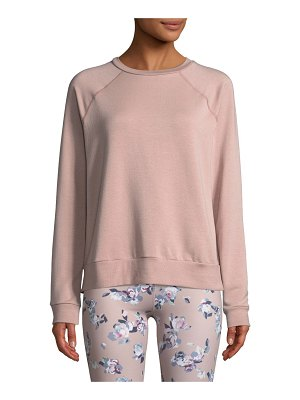Beyond Yoga Slashed Raglan-Sleeve Crewneck Pullover
