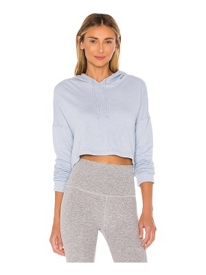 Beyond Yoga wonders never fleece super cropped hoodie