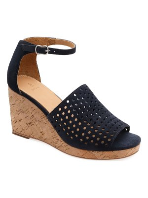 Bill Blass Zelda Perforated Wedge Sandals