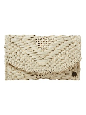 Billabong caught up straw clutch