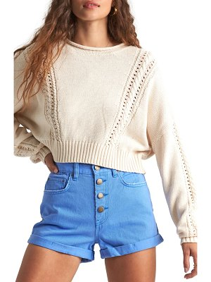 Billabong night falls crop sweater