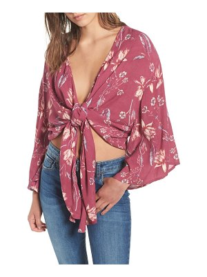 Billabong sometimes yours knot front top