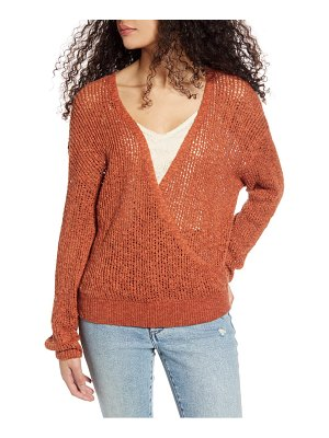 Billabong sweet bliss wrap front sweater
