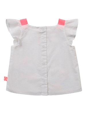 Billieblush Infant Girls' Baby Percale Blouse W Braided Straps And Embroidery
