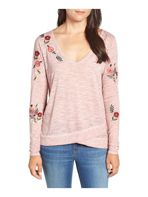 BILLY T embroidered long sleeve top