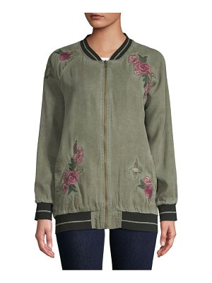 BILLY T Floral-Embroidered Jacket