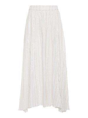 Bird & Knoll amelie striped cotton-blend skirt