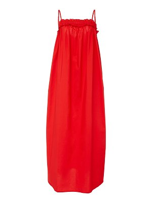 Bird & Knoll ida cotton poplin maxi dress