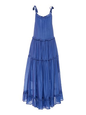 Bird & Knoll ivy tiered cotton-silk voile maxi dress