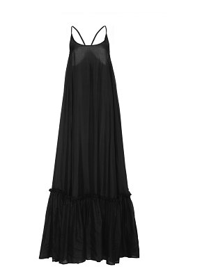 Bird & Knoll karolina silk scoop neck maxi dress