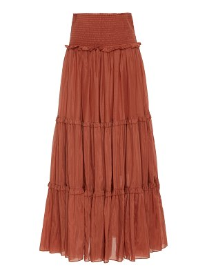 Bird & Knoll yasmine tiered cotton silk skirt