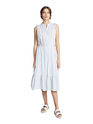Birds of Paradis riley shirred shoulder dress