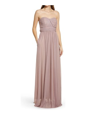 BIRDY GREY chicky convertible neck tulle gown