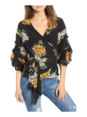 BISHOP AND YOUNG bishop + young enchanted garden wrap blouse