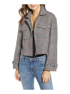 BISHOP AND YOUNG bishop + young houndstooth plaid jacket