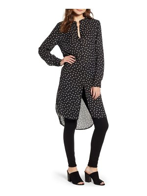 BISHOP AND YOUNG bishop + young soho leaf & dot print high/low tunic