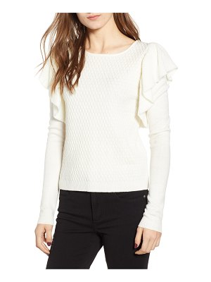 BISHOP AND YOUNG bishop + young sophia ruffle sweater