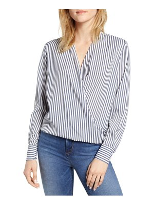 Bishop + Young stripe crossover blouse