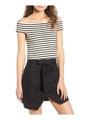 BISHOP AND YOUNG bishop + young stripe off the shoulder top