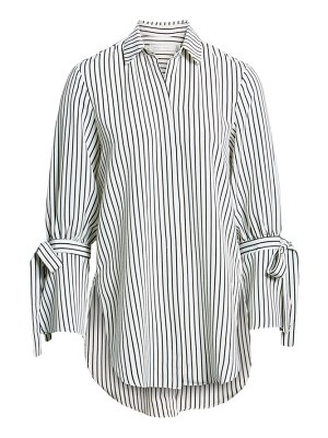 BISHOP AND YOUNG bishop + young stripe tie sleeve blouse