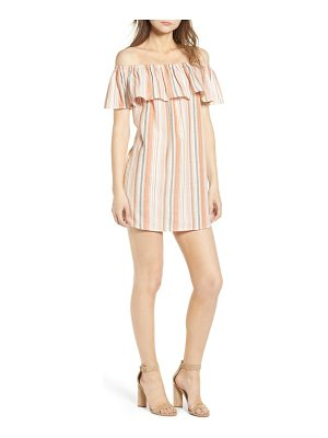 BISHOP AND YOUNG bishop + young sunset stripe off the shoulder dress