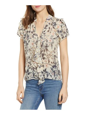 Bishop + Young floral ruffle sleeve top
