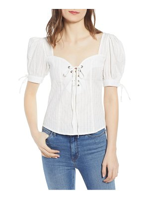 Bishop + Young lace-up sweetheart top