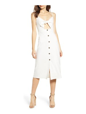 Bishop + Young tie bodice midi dress