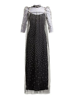 Biyan golla floral and polka dot tulle dress