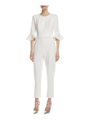 Black Halo Brooklyn 3/4-Bell-Sleeve Jumpsuit