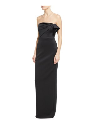 Black Halo Divina Strapless Column Gown