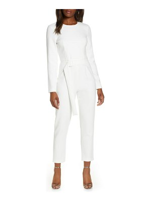 Black Halo emma long sleeve jumpsuit