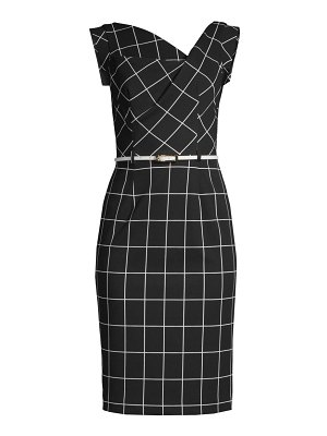 Black Halo jackie o belted sheath dress