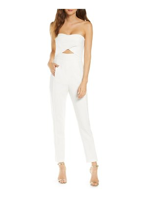 Black Halo jada strapless cutout detail jumpsuit