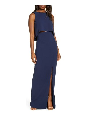 Black Halo kacie two-piece sleeveless maxi dress