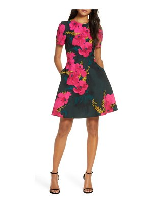 Black Halo kaitlyn floral fit & flare dress