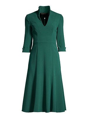 Black Halo kensington stand-collar fit & flare dress