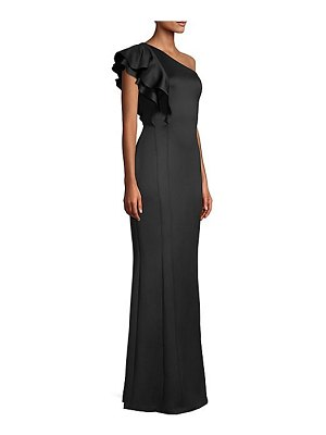 Black Halo mabel ruffle gown