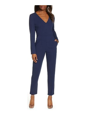 Black Halo sambora long sleeve v-neck jumpsuit