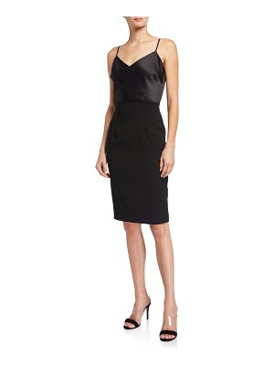 Black Halo Teagun Combo Sheath Dress