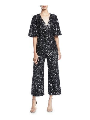 Black Halo SEQUIN SS JUMPSUIT